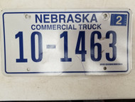2006 Nebraska Commercial Truck License Plate 10-1463 (2)