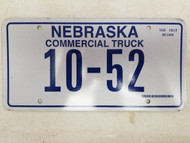 Nebraska Commercial Truck License Plate 10-52