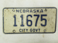 Nebraska City Government License Plate 11675 (2)
