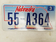 2006 Nebraska License Plate 55-A364