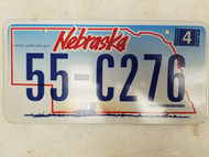2006 Nebraska License Plate 55-C276