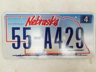 2006 Nebraska License Plate 55-A429