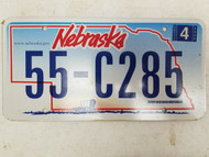 2006 Nebraska License Plate 55-C285