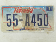 2006 Nebraska License Plate 55-A450