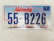 2006 Nebraska License Plate 55-B226