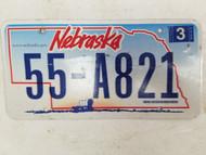 2006 Nebraska License Plate 55-A821
