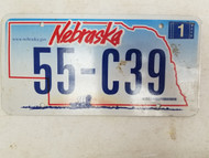 2006 Nebraska License Plate 55-C39