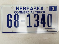 2006 Nebraska Commercial Truck License Plate 68-1340