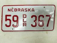 Nebraska Dealer License Plate 55 367