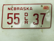 2000 Nebraska Dealer License Plate 35 37