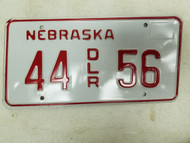 Nebraska Dealer License Plate 44 56
