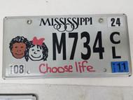 2011 Mississippi Choose Life Kids Plate M734