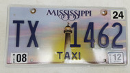 2012 Mississippi Lighthouse Sunset Taxi License Plate TX 1462