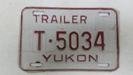 Expired Yukon Trailer License Plate T-5034