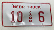 Expired Nebraska Commercial Truck License Plate 10-6