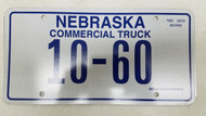 Expired Nebraska Commercial Truck License Plate 10-60