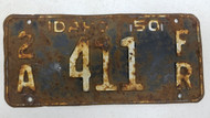 1950 Idaho Adams County Farm Truck License Plate 411
