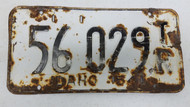 1954 Idaho Trailer Commercial License Plate 56-029