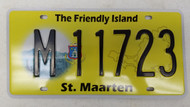 Expired ST. MAARTEN The Friendly Island License Plate M11723