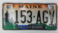 2015 MAINE Support Local Agriculture License Plate 153-AGV Farm Father and Daughter