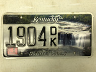 2013 KENTUCKY Unbridled Spirit Nature's Finest License Plate 1904-DK waterfall river