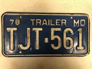1978 MISSOURI Trailer License Plate TJT-561