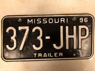 1996 MISSOURI Trailer License Plate 373-JHP