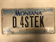 2000 MONTANA Big Sky License Plate D-4STEK Steak Cow Skull