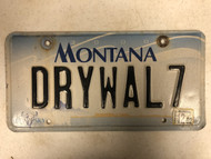 2000 (2012 Tag) MONTANA Big Sky License Plate DRYWAL7 Drywall Cow Skull