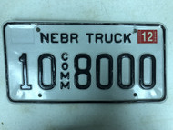 2005 Tag NEBRASKA Platte County Commercial Truck License Plate 10-8000