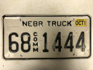 2003 Tag NEBRASKA Keith County Commercial Truck License Plate 68-1444