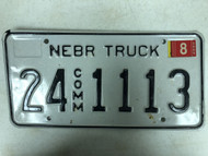 2005 Tag NEBRASKA Cuming County Commercial Truck License Plate 24-1113