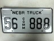 Expired NEBRASKA Sherman County Commercial Truck License Plate 56-888