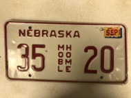 2002 Tag NEBRASKA Dixon County Mobile Home License Plate 35-20