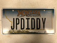 Expired MONTANA Big Sky Country License Plate JPDIDDY P Diddy Mountain Range