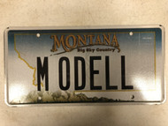 Expired MONTANA Big Sky Country License Plate MODELL Mountain Range