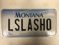 2000 MONTANA Big Sky License Plate LSLASHO Cow Skull
