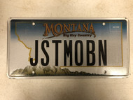 Expired MONTANA Big Sky Country License Plate JSTMOBN Mountain Range