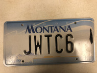 2000 MONTANA Big Sky License Plate JWTC6 Cow Skull