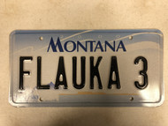 2000 MONTANA Big Sky License Plate FLAUKA-3 Cow Skull