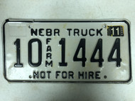 2004 Tag NEBRASKA Platte County Not For Hire Farm Truck License Plate 10-1444 Cool #