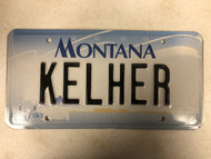 2000 MONTANA Big Sky License Plate KELHER Cow Skull