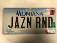 2000 (2004 & 2006 Tag) MONTANA Big Sky License Plate JAZN RND Cow Skull