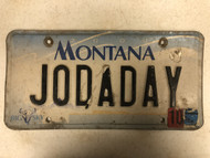 2000 MONTANA Big Sky License Plate JODADAY Cow Skull