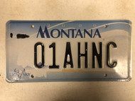 2000 MONTANA Big Sky License Plate 01AHNC Cow Skull