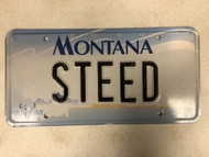 2000 MONTANA Big Sky License Plate STEED Horse Cow Skull