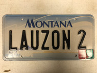 2000 (2006 Tag) MONTANA Big Sky License Plate LAUZON-2 Cow Skull