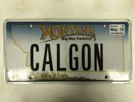 2005 Tag MONTANA Big Sky Country License Plate CALGON Mountain Range