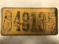 DMV Clear 1917 MISSOURI Passenger LLC License Plates YOM Clear 84813 MO