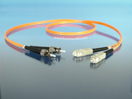 Multimode duplex ST SC patch cord